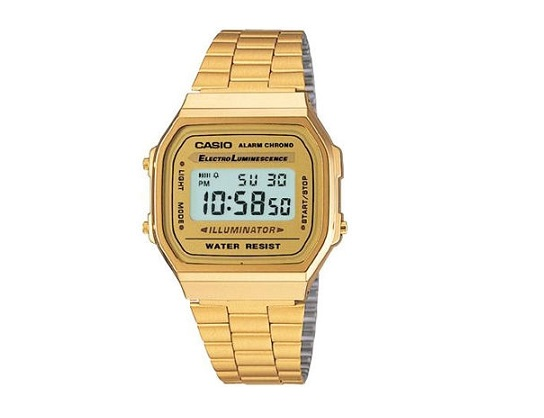 Casio Unisex Gold Digital Alarm Watch