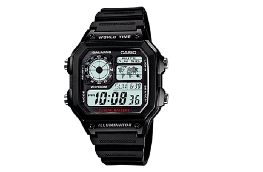 CASIO AE-1200WH-1AV MEN'S WATCH