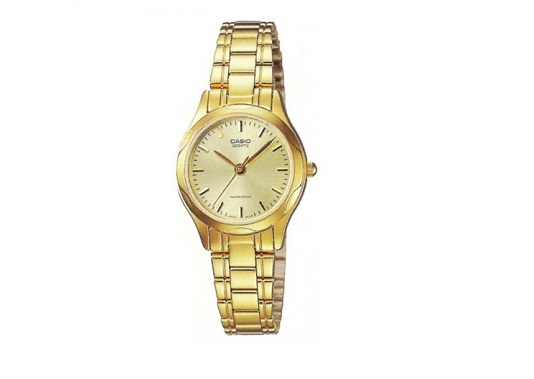 CASIO LTP-1275G-9A WOMEN'S GOLD PLATED WATCH