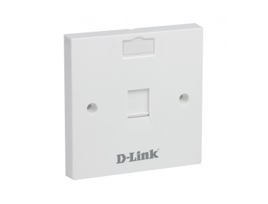 D-LINK 86 x 86 mm,Single Faceplate With Shutter