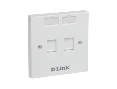 D-LINK Face Plate-Dual 86*86 mm,Square,White