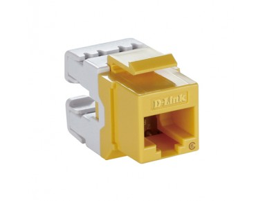 D-LINK Cat6 Keystone Jack UTP-Yellow