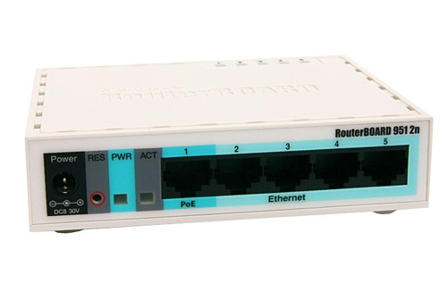 MikroTik RB951-2n With Power Supply & Case